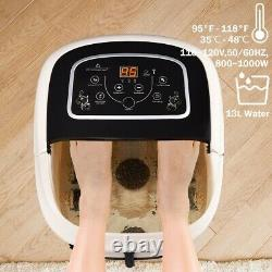 Foot Spa Hot Water Bath Massager Adjustable Temp Timer Heat Vibration 4 Rollers