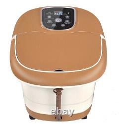 Foot Spa Hot Water Bath Massager Adjustable Temp Timer Heat Vibration 6 Rollers