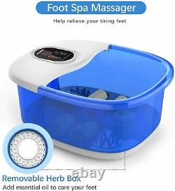 Foot Spa Massager AREALER Foot Bath With Bubbles Heat Vibration And Auto New