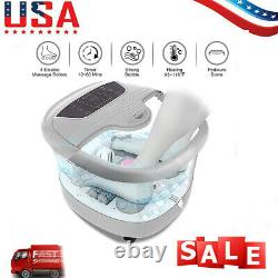 Foot Spa Massager Foot Bath with Heat Massage Bubbles Timer Stone Automatic US