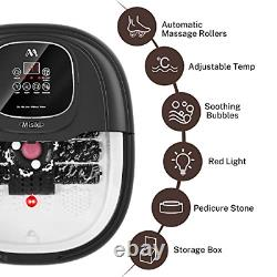 Foot Spa Misiki Foot Bath Massager with Heat & 3 Automatic Modes and 4 Motorized