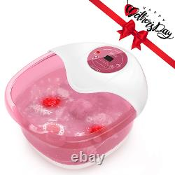 Foot Spa Misiki Foot Bath Massager with Heat Bubbles Vibration and Auto Shut-off