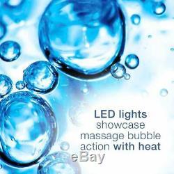 Foot Spa Pedicure Hot Water Tub Massage Bath Soak Feet Relax Heat LED Waterfall