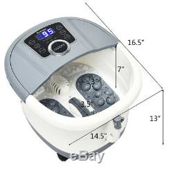Functional Electric Foot Spa Bath Shiatsu Roller Motorized Massager Christmas
