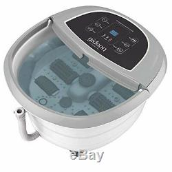 Gideon Luxury Foot Spa Bath Massager With Heat 4 Bubbling Water Jets 6 Rolling