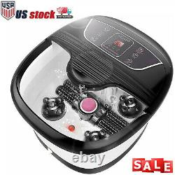 HOT SELL Foot Spa Bath Massager with Massage Rollers Heat and Bubbles Temp Timer