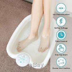 Healcity Negative Hydrogen System Ionic Detox Foot Bath SPA Machine with Tub Bas