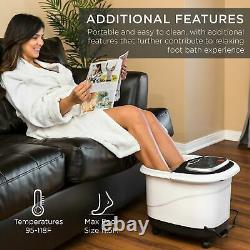 Heated Shiatsu Massage Water Jets Foot Bath Spa with Pumice Stone Portable NEW