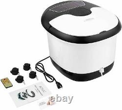 Home Foot Spa Bath Massager Bubble Heat LED Display Infrared Relax BF00