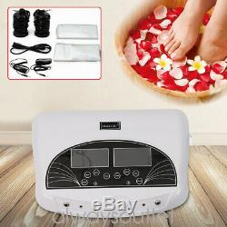 Infrared LCD Dual Pro Ion Detox Ionic Foot Bath Spa Clean Machine Infrared Belts