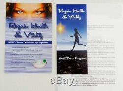 Ion Detox Ionic Foot Bath Spa Chi Cleanse. Free Bonus Extras! 1 Year Warranty