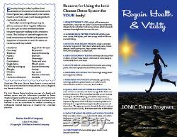 Ion Detox Ionic Foot Bath Spa Chi Cleanse, Free Bonus Extras. 1 Year Warranty