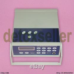 Ion Ionic Detox Foot Spa Cleanse Aqua Cell Bath Machine Fir Belt Aluminum Box