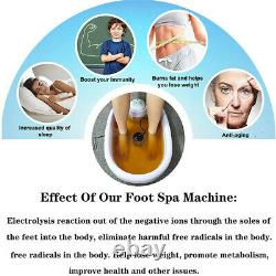 Ionic Bath Detox Foot Spa Machine Cleaner Body Toxins With100 Basin Liners 6 Array