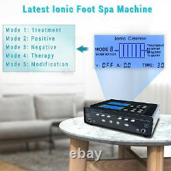 Ionic Cleanse Detox Foot Spa Bath Machine with Arrays Infrared Waist Belt Function
