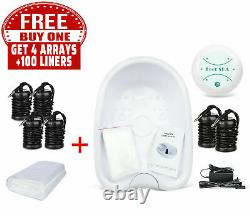 Ionic Detox Foot Basin Bath Spa Cleanse Machine with Arrays Liners Health Care