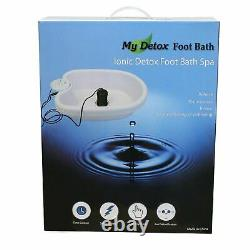 Ionic Detox Foot Bath Cleanse Spa With Basin 10 Liners And Two Round Arrays