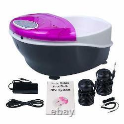 Ionic Detox Foot Bath SPA Machine System Plus Panel Control+Massage Tub 2 Arrays
