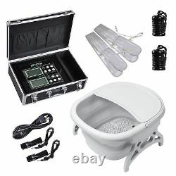 Ionic Detox Foot Spa Machine Folded Tub Kit with Arrays Far Infrared Belts Home