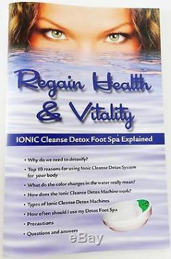 Ionic Foot Cleanse Foot Bath. Detox Foot Spa 2 Super Duty Arrays. 1 YEAR WARRANTY