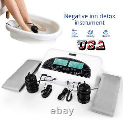 Ionic Ion Detox Foot Bath Spa Massager Machine Dual User Cell Cleanse Machine US