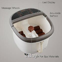 Kenwell Portable Foot Spa Bath Massager Bubble Heat LED Display Infrared Relax