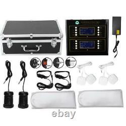 LCD Dual Foot Detox Machine Ionic Foot Bath Spa Cell Cleanse Far Belts