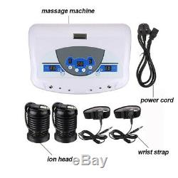 LCD Dual Ionic Cell Cleanse Detox Foot Bath Spa Machine withArrays Wrist Straps