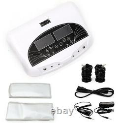 LCD Dual Pro Ion Detox Ionic Foot Bath Spa Clean Machine Infrared Belts 5 Modes