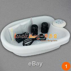 Latest Ion Ionic Detox Foot Bath Spa Cleanse Machine + Tub + 10 Liner + 2 Array