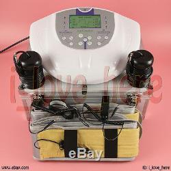 Latest Ionic Cleanse Pro Dua Detox Aqua Foot Bath Spa Set 5 Modes 2 Fir Belts
