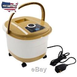 Massage Portable Spa Bath Foot Massager With LED Display 18X12.5X15.5 500 W