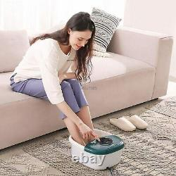 Maxkare Foot Spa Massager with Heat, Bubbles, and Vibration
