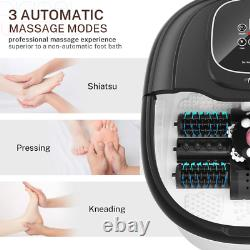 Misiki Foot Spa Bath Massager with Heater, 3 Automatic Modes and 4