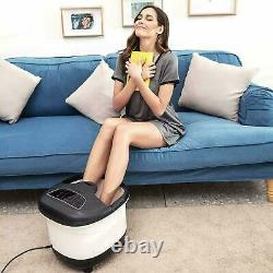 Motorized Foot Spa Bath Massager Bubble Heat LED Display Infrared Relax Timer