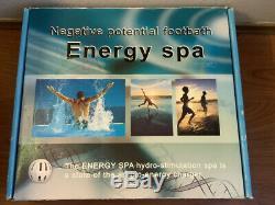 NEW! Negative Potential Chi Cleanse Aqua Detox Ion Foot Bath Energy Spa TS-9600
