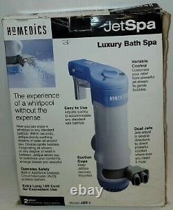 (NEW OPEN BOX!) Homedics JetSpa Luxury Bath Jet Spa DUAL JETS Whirlpool JET-1