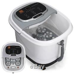 NEW Portable Heated Foot Bath Spa with Massage Rollers Red Light Therapy