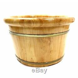 Natural Cedar Wood Bucket For Foot Spa Sauna Foot Basin Tub Soak Massage Relax