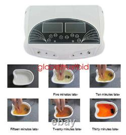 New Dual Ion Detox Ionic Foot Bath Spa Cleanse Machine Infrared Belt Large LCD