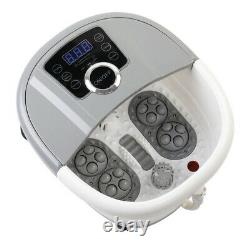 New Foot Massage Pedicure Hydrotherapy Spa Bath Bubbles Motorized Rolling Timer