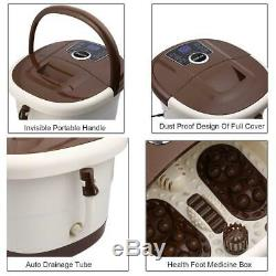 New Foot Spa Bath Massager Automatic Massage Rollers Heat Temperature with Wheels