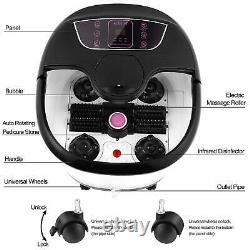 New Foot Spa Bath Massager Bubble Heat LED Display Home Infrared Relax Timer