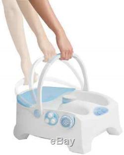 New Homedics Heated Bubble Spa # Bl-150 Luxury Foot Bath Massage Brush