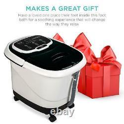New Portable Heated Shiatsu Foot Bath Massage Spa with Pumice Stone & Water Jets