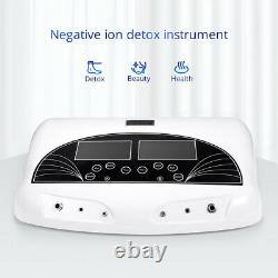 New Pro Dual Ion Detox Ionic Foot Bath Spa Cleanse Machine Infrared Belt LCD