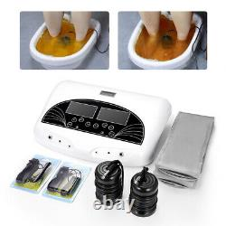 New Pro Dual User Fir Belt LCD Ionic Detox Ion Foot Bath Spa Cleanse Machine