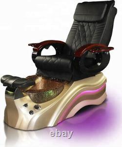 New Salon Shiatsu Massage Pedicure Foot Spa Chair with Pipeless Tub Basin Tub