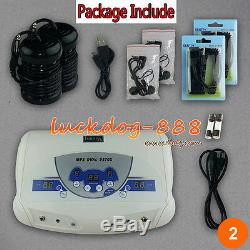New Top Brand Mp3 Cell Dual Chi Ionic Ion Detox Machine Foot Bath Spa 2 Arrays