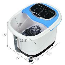 Portable Digital Heated Foot Spa Pedicure Bath Motorized Massager Roller Shiatsu